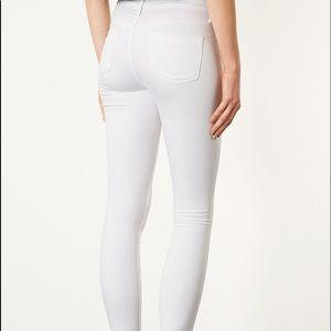 Topshop Leigh Moto white jeans